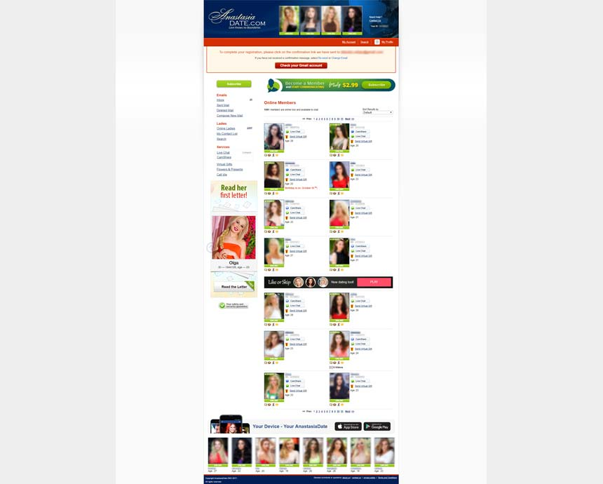 Anastasia.com online members' profiles