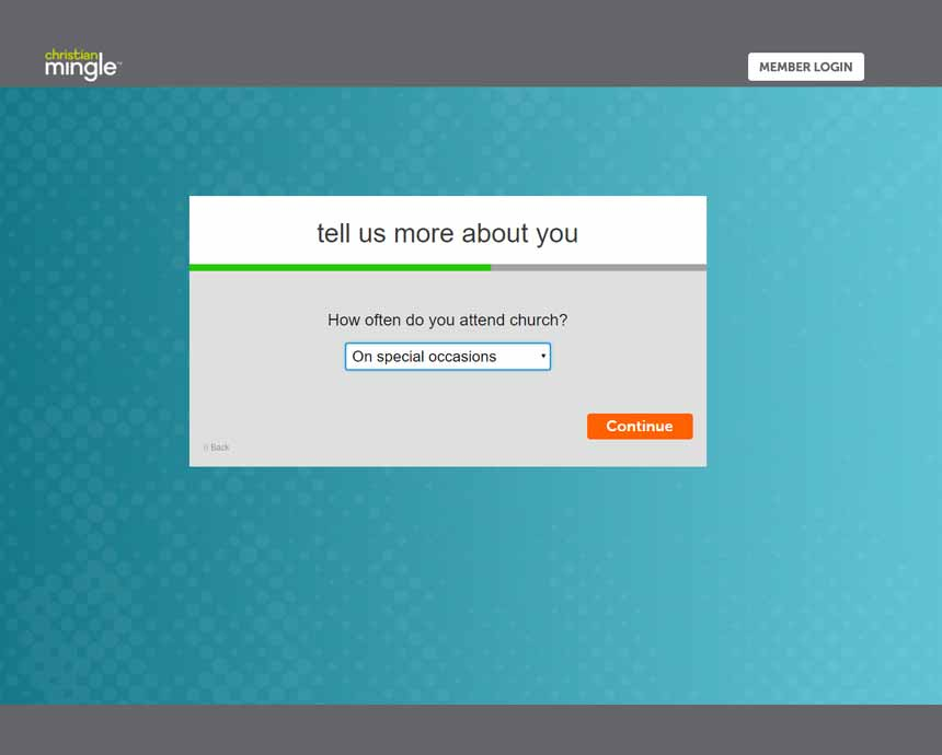 ChristianMingle signup process