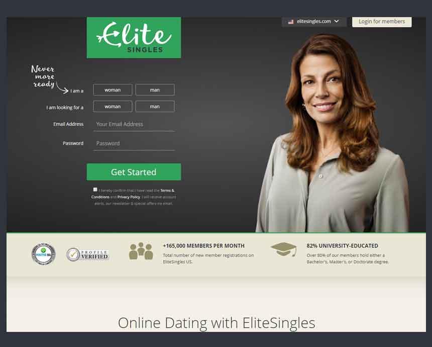 Elite singles dating login